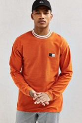 Stussy Reverse Terry Ringer Long Sleeve Tee Orange