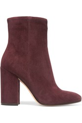 Gianvito Rossi Suede Ankle Boots Claret