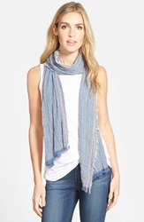 Renees Accessories Stripe Crinkle Scarf Denim