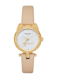 Kate Spade Pave Cat Mini Metro Watch
