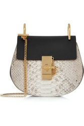 Chloe Drew Mini Python And Leather Shoulder Bag