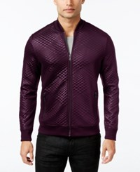 Inc International Concepts Men's Diamond Quilted Bomber Jacket Only At Macy's Vintage Wine