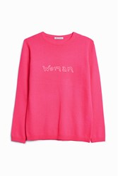 Bella Freud Women S Cashmere 'Woman' Jumper Boutique1 Pink