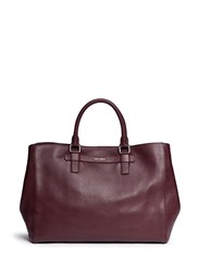 Dolce And Gabbana Leather Shopper Tote Red