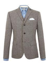 Racing Green Jose Semi Plain Nep Blazer Charcoal