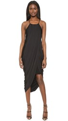 Bobi Black Asymmetrical Dress