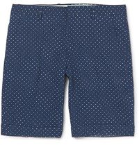 Paul Smith Polka Dot Cotton Seersucker Shorts Blue