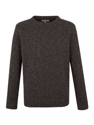 Gibson Crew Neck Donegal Fleck Charcoal