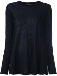 Roberto Collina Round Neck Jumper Blue