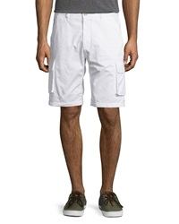Robert Graham Globe Trotter Cotton Cargo Shorts White