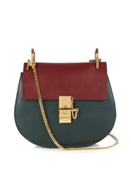 Chloe Drew Small Leather Shoulder Bag Green Multi