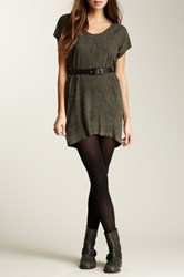 Muubaa Shelby T Shirt Suede Tunic Gray