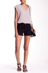 Jolt Roll Cuff Boyfriend Short Juniors Black
