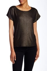 Ella Moss Lace Back Tee Black