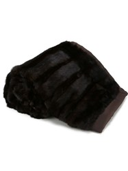 Liska Mink Fur Blanket Brown