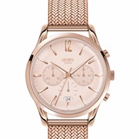 Henry London Ladies Shoreditch Chronograph Stainless Steel Bracelet Watch Rose Gold Nude Neutrals