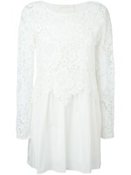 See By Chloa Guipure Lace Layered Dress White