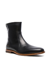 Robert Geller X Common Projects Leather Chelsea Boots In Black