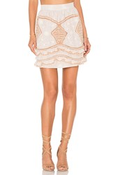 For Love And Lemons Winona Mini Skirt Beige