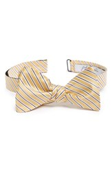 Men's John W. Nordstrom 'Kreeger' Stripe Silk Bow Tie Yellow