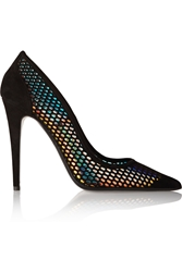 Tamara Mellon Miami Vice Holographic Suede Pumps