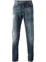 Frankie Morello Distress Slim Fit Jean Blue