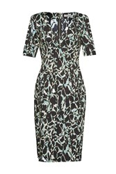 Great Plains Silhouette Fitted V Neck Dress Green