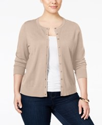 Charter Club Plus Size Long Sleeve Cardigan Only At Macy's Ballet Pink