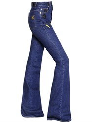 Sonia Rykiel High Waist Flared Denim Jeans W Patches