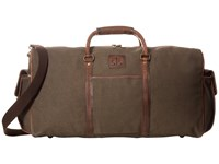 Sts Ranchwear The Foreman Duffel Bag Dark Khaki Canvas Leather Duffel Bags Brown
