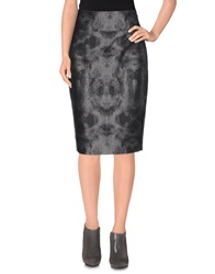 Byblos Knee Length Skirts Steel Grey