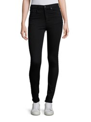 Rag And Bone Dive Super High Rise Grommet Detail Jeans Studded Black