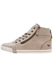 Mustang Hightop Trainers Ivory Light Grey