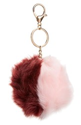 Topshop Women's Faux Fur Pom Bag Charm