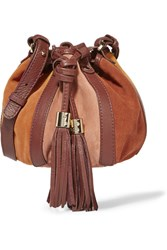 See By Chloe Vicki Leather Trimmed Suede Bucket Bag Tan