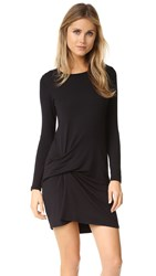 Riller And Fount Pinched Front Dress Black French Terry