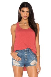 Wilt Slub Shrunken Shirttail Tank Red