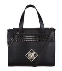 Versus By Versace Versus Versace Medium Lion Tote With Eyelet Pouch Female Black