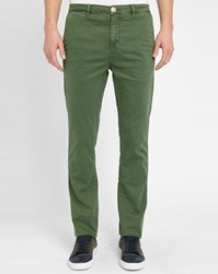 M.Studio Bottle Green Noa Fitted Cotton Chinos