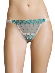 Mimi Holliday Rose Jade Dotty Lace Hipster Thong