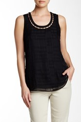 Nydj Clipped Jacquard Tank Black