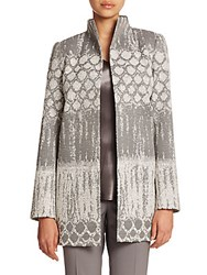 Lafayette 148 New York Destiny Woven Valina Coat Rock Multi