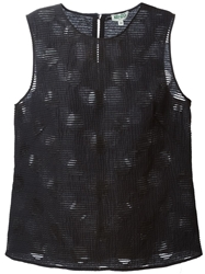 Kenzo Dots And Stripes Tank Top Blue