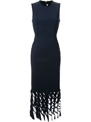 Dion Lee Feathered Perforated Dress Black