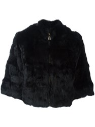 Blugirl Zip Up Fur Jacket Black
