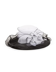 Giovannio Bow Accented Derby Hat White