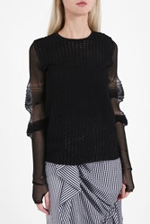 J.W.Anderson Textured Jumper Black