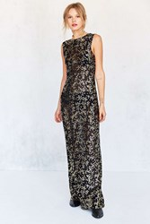 Kimchi And Blue Autumn Floral Mesh Muscle Maxi Dress Black Multi