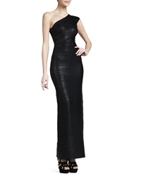 Herve Leger One Shoulder Bandage Gown