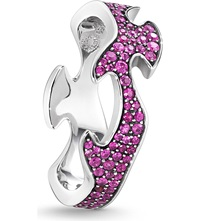 Georg Jensen Fusion 18Ct White Gold And Pink Sapphire Ring